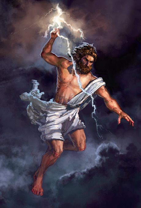 Zeus was the dispenser of justice and protector of human rights. If a mortal was acting better than the gods or lacked hospitality towards another god, he or she will be struck with a lightning bolt sent by Zeus.