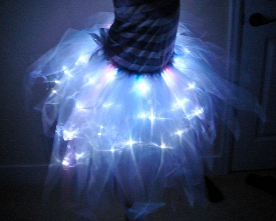 Adult Tutu with LEDs in Organza for Costume