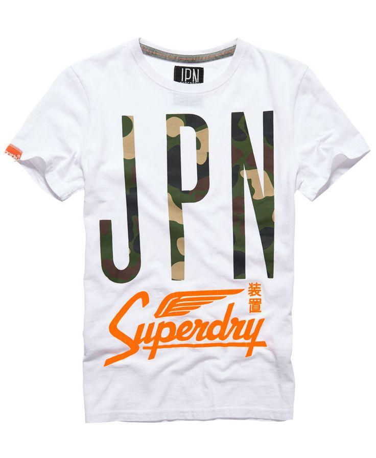 Mens - Big JPN T-shirt in Optic | Superdry