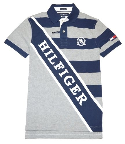 Tommy Hilfiger Men Custom Fit striped Logo Polo Shirt can be found in DNCWholesale.com lots.
