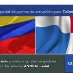 Especial de puntos de activación para Colombia y Panamá.