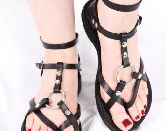 Personalizadas hechas a mano sandalias de por DarkSideofNorway