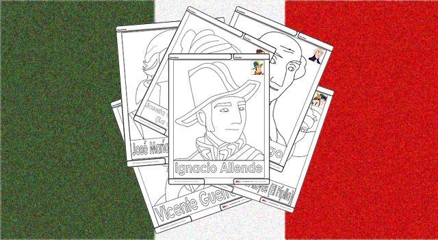 Personajes de la independencia de México para colorear - Recursos e información…