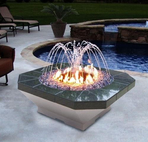 Fire Fountain Houses Pinterest Pit Backyard Diy And