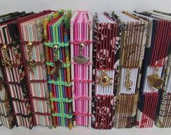 Caderno A6 costura artesanal 200 folhas