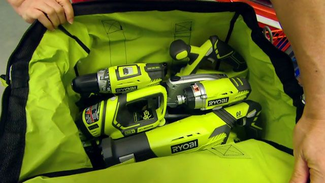 VIDEO: Ultimate Tool Combo Kit perfect for a first-time DIY-er. The kit includes a cordless drill, impact driver, reciprocating saw, circular saw, multi-purpose tool, flashlight, (2) 18-volt lithium-ion batteries, battery charger and a carrying case!