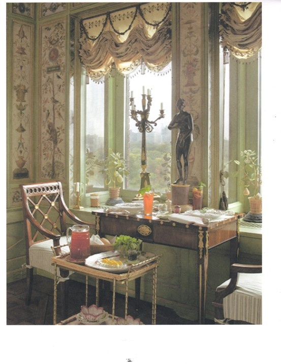 "Lunch on a Russian table, New York dining room of Howard Slatkin, from his forthcoming book ""Fifth Avenue Style"" from Vendome Press. Photo by Tria Giovan."