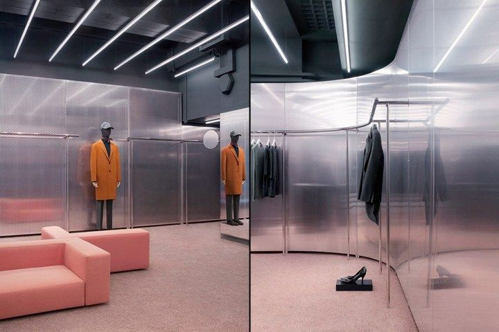 Abstract And Powerful Interior Design For Acne Studios Stores