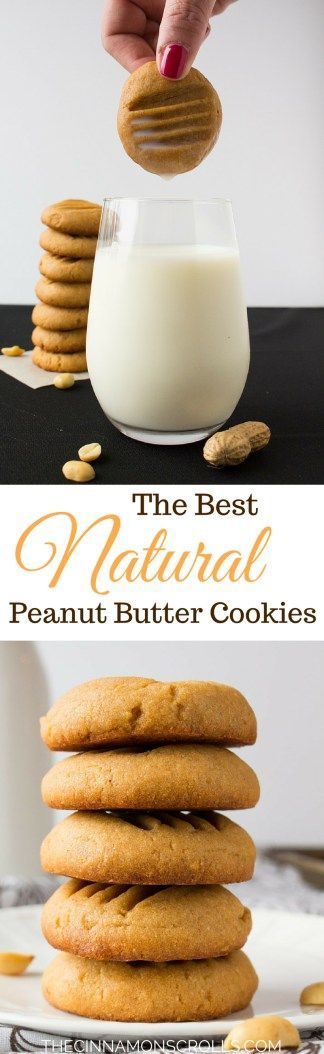 The Best Natural Peanut Butter Cookies | thecinnamonscrolls.com @cinnamonscribe