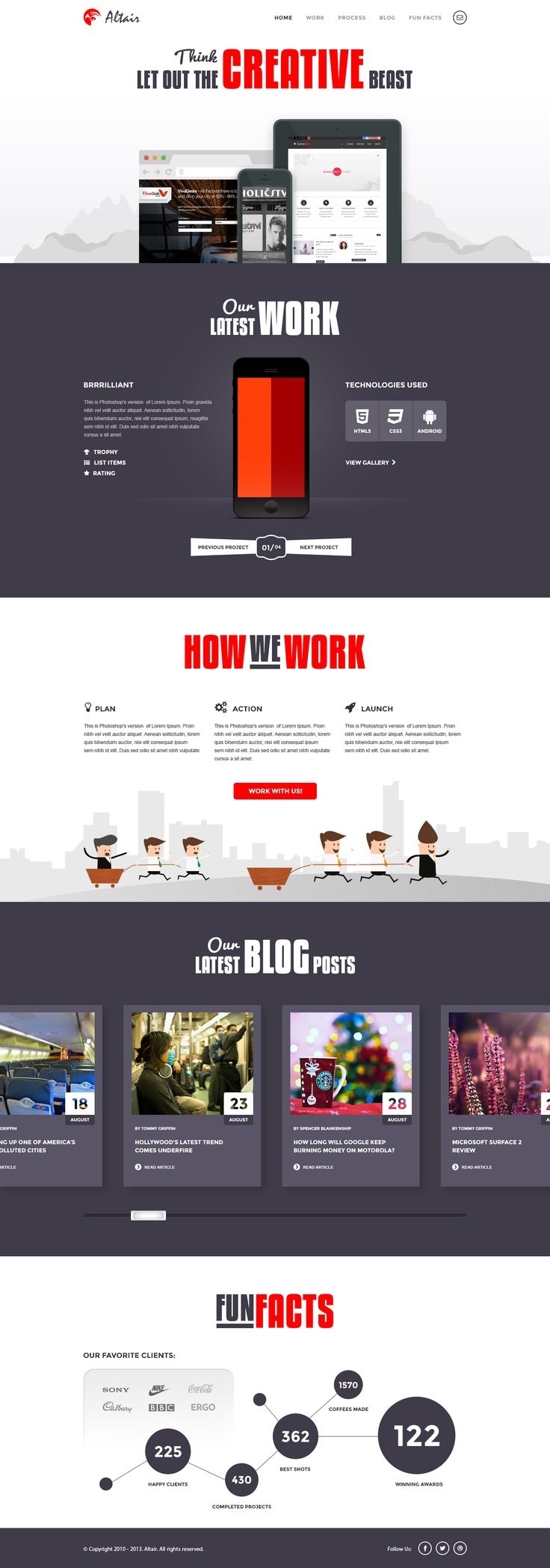 Altair - Free PSD Template
