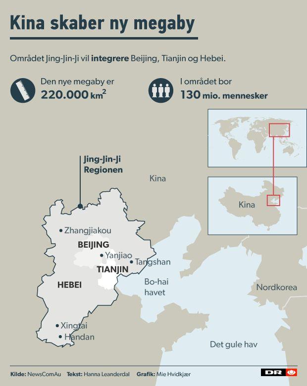 Kinas nye megaby bliver fem gange så stor som Danmark | Nyheder | DR