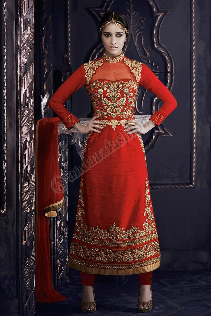 Red Georgette,Net Churidar Suit With Red Shantoon Dupatta Design No- DMV13070 Price- £95.00 Dress Type: Trouser Suit Fabric: Georgette Colour: Red Embellishments: Embroidered, Resham, Stone, Zari For More Details:- http://www.andaazfashion.co.uk/red-georgette-net-churidar-suit-with-red-shantoon-dupatta-dmv13070.html