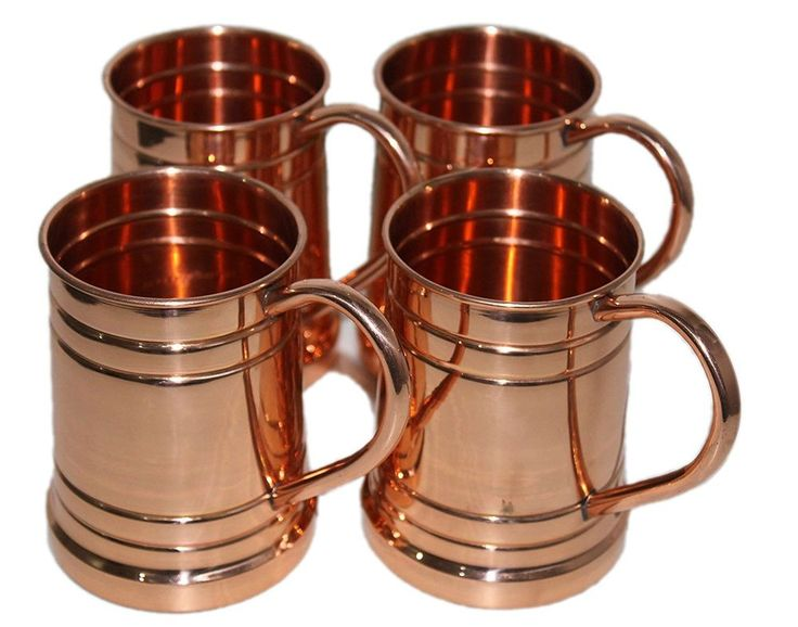 Drinkware Accessories Hammered Copper Moscow Mule Mug Capacity 20 Oz Pack of 4 P #YADAVHANDICRAFTS