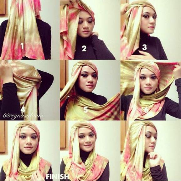 This is kinda like a Turban Style Hijab