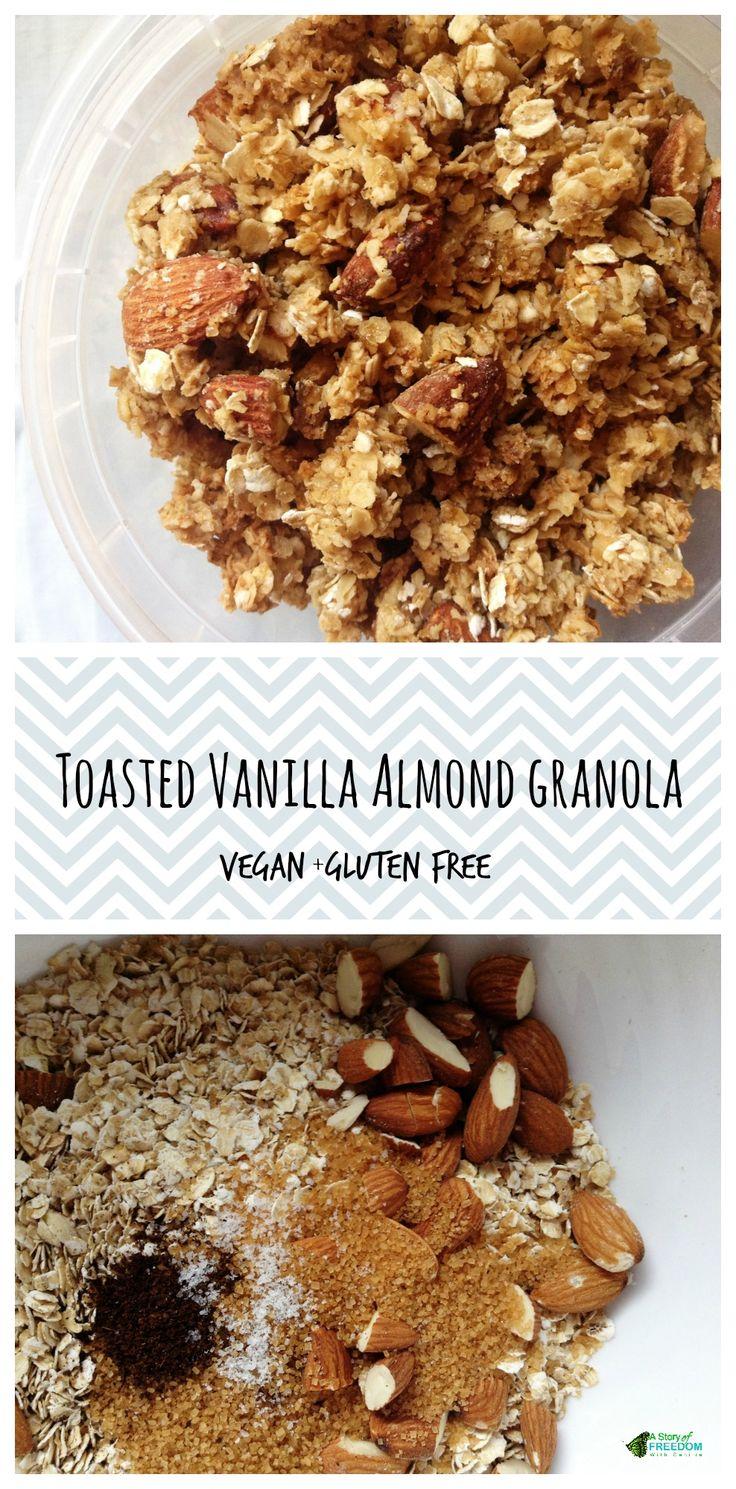 Almond Vanilla Granola   Recipe   Almonds, Vanilla and Granola
