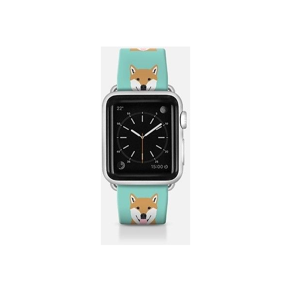 Shiba Inu cute apple watchband for dog lovers doge meme cute kawaii... ($52) ❤ liked on Polyvore featuring apple watch band