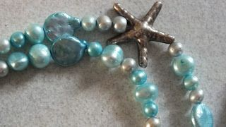 Freshwater pearls and silver necklake.  Perle d'acqua dolce e argento. handmade