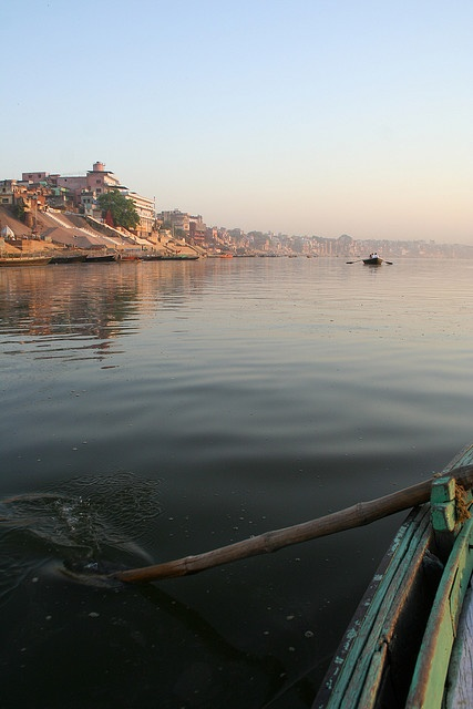 Early morning boat ride on the Ganges River, Varanasi, India