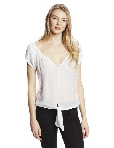 Womens Tie Front Pintuck Gauze Raglan Shirt www.weartowork.us