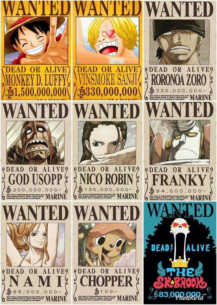Poster Buronan Bajak Laut Topi Jerami Topi Jerami Bajak Laut Kartun Anime wallpaper one piece wanted