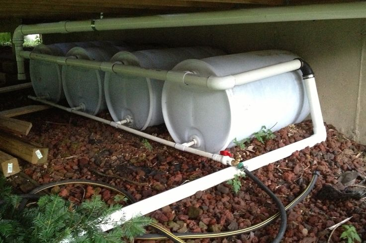 Connecting Rain Barrels For More Water Harvesting