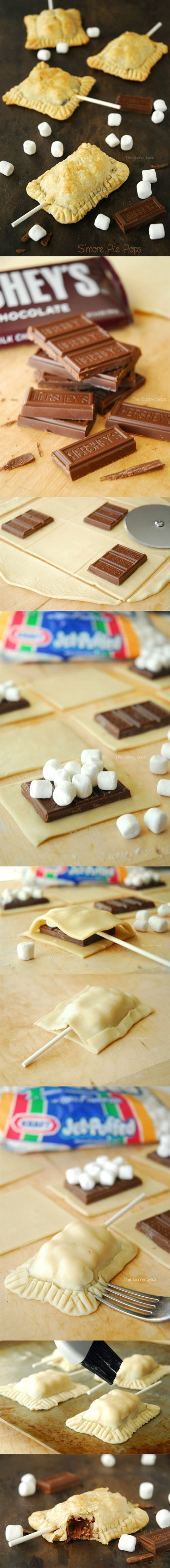 Smore pie pops. That Is Awesome : theBERRY