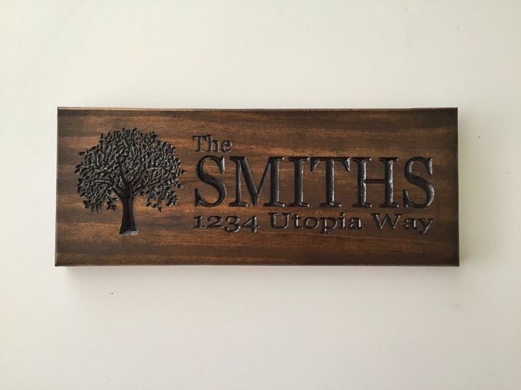 Address Sign; Personalized Address Sign; rustic home sign; Tree sign by WoodandGrainDesigns on Etsy https://www.etsy.com/listing/255222202/address-sign-personalized-address-sign