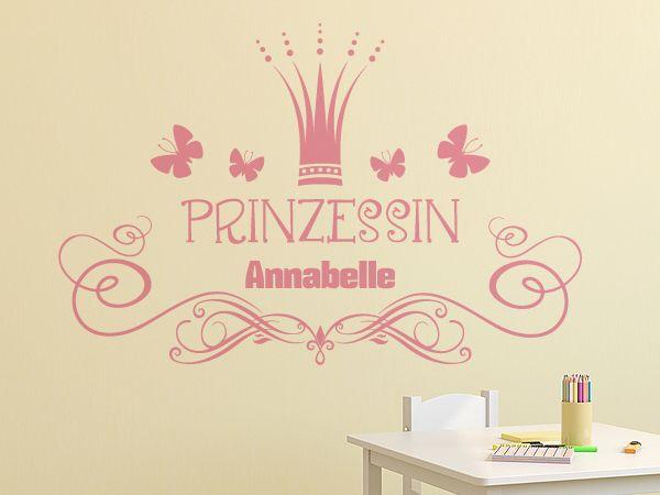 Cute Niedliches Prinzessinnenmotiv f rs Kinderzimmer Idividualisierbar mit dem Namen Ihres Kindes