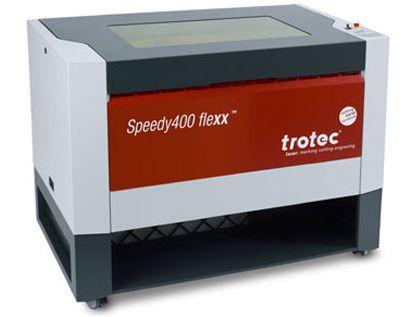 SPEEDY 400FLEXX: #equipo_laser, #speedy400Flexx de @Trotec Laser, Inc.  Tecnología Flexx (láser co2 + fibra) máximo confort y manejo en una superfície de trabajo de 1000x610mm. #equipoláser se caracteríza por su elevada productividad y manejo. Más info. www.framuntechno.com