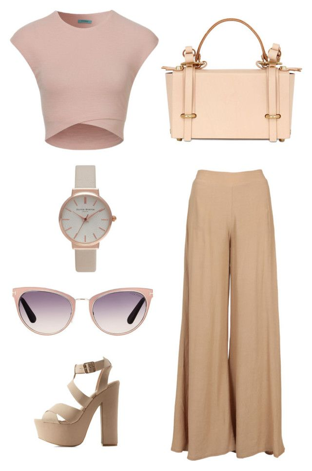 """Nude Perfection"" by britscarike on Polyvore featuring Charlotte Russe, Tom Ford, Olivia Burton and Niels Peeraer"