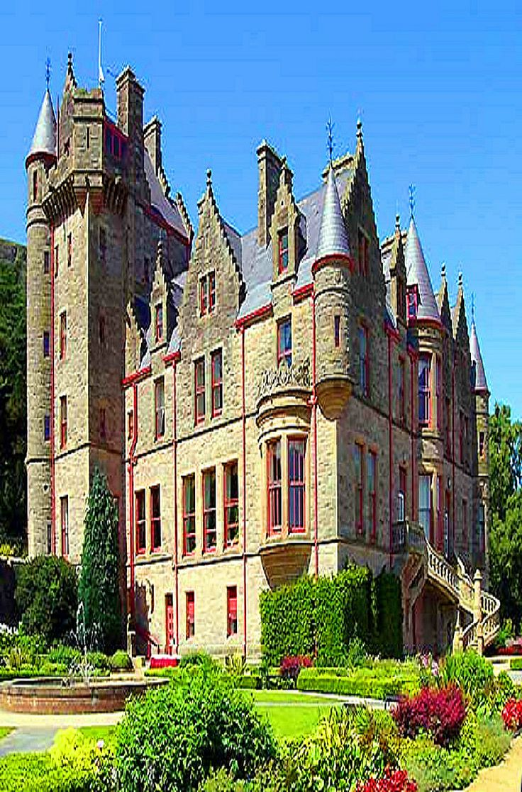 Belfast Castle ~ Northern Ireland in County Antrim  next county is Tyrone