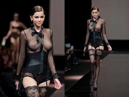Madalina Pica in the black bodysuits