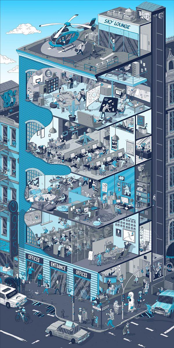 Isometric illustration https://www.behance.net/gallery/17852029/Red-Bull-Total-Zero-Sugar-Free?utm_medium=email