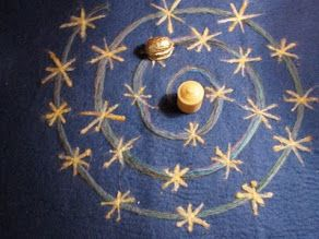tutorial: neede-felted advent spiral