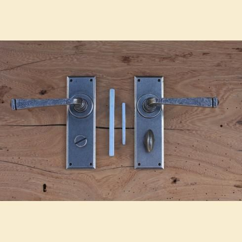 Pewter Avon Bathroom Lever Lock Set with turn and release. // & 50 best Ways to Lock Bathroom Doors images on Pinterest | Bathroom ... pezcame.com