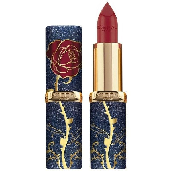 L'Oréal Drops 'Beauty And The Beast' Inspired Makeup Line NYLON ❤ liked on Polyvore featuring beauty products, makeup, lip makeup, lipstick, beauty, lips, cosmetics and fillers