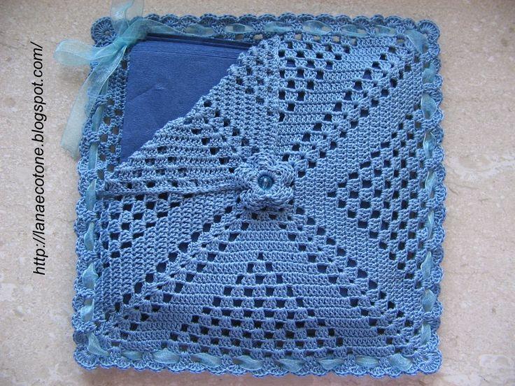 Lana e Cotone (maglia e uncinetto): Portatovaglioli all'uncinetto