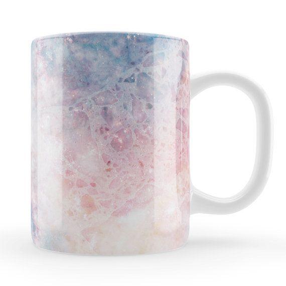 Fantasy Marble Mug, Unique unusual pink birthday gift, stylish marble style gift, colourful mug, unusual birthday gift Mum, sister, friend