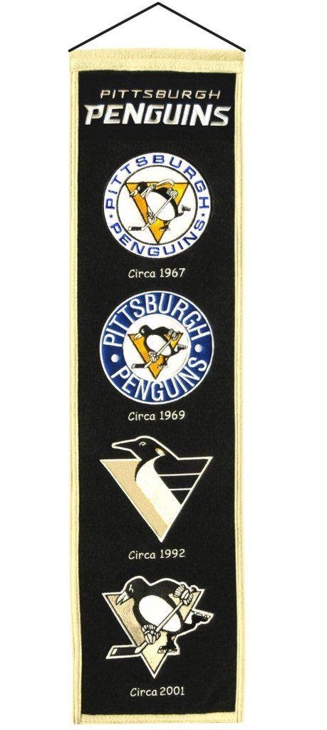 "Pittsburgh Penguins Wool Heritage Banner - 8""x32"""
