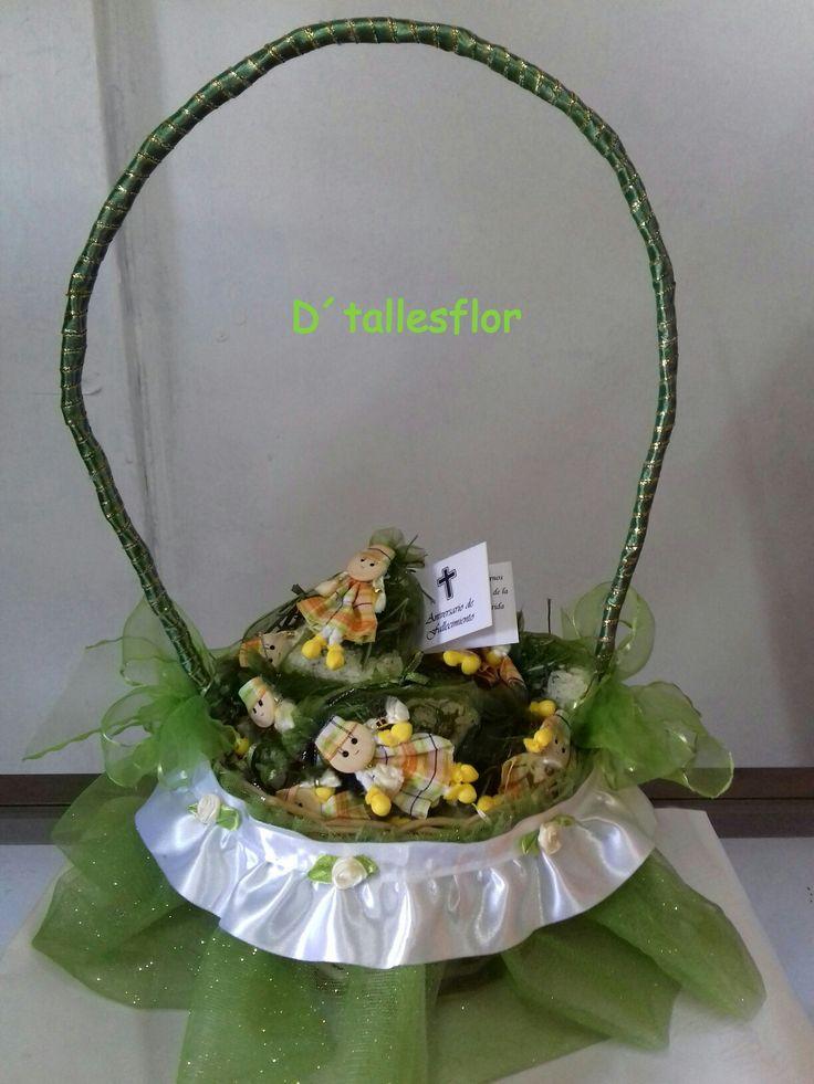 Canastillo decorados para encintados