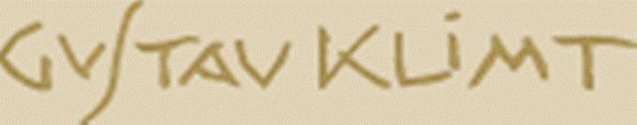 Firma de Gustav Klimt.