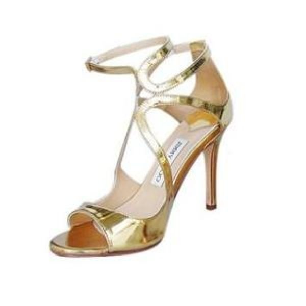Jimmy Choo Golden sandal patented leather - eLuxury Designer Handbags 75 - 90% OFF