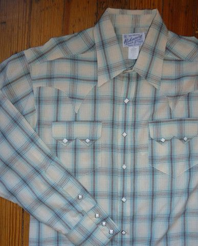 Blue and White Plaid Western Shirt  http://broncobills.co.uk/collections/brand-new/products/cotton-plaid-sawtooth-pocket-western-shirt