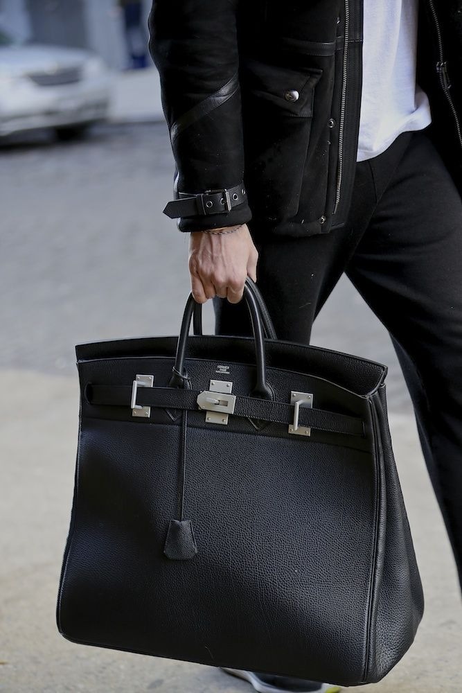 "badkidmario: ""The Hermès Haute à Courroies black with palladium hardware in clemence leather  """