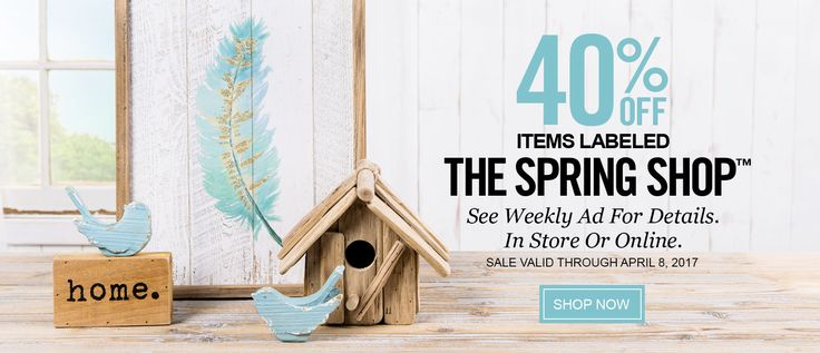 Hobby Lobby Arts & Crafts Stores 40% off cute Spring shop items! #easter #spring #decor