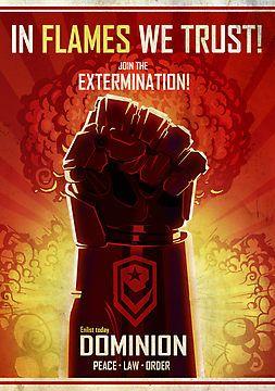 Starcraft Dominion propaganda poster