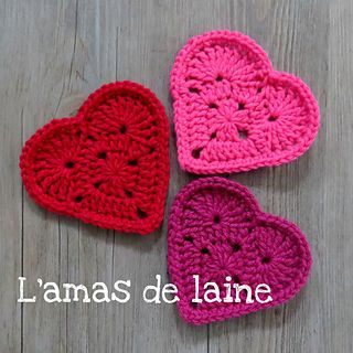 CROCHET PATTERN You'll be in my heart Coasters - Super fast and super fun to make. Perfect as coasters or appliqués.