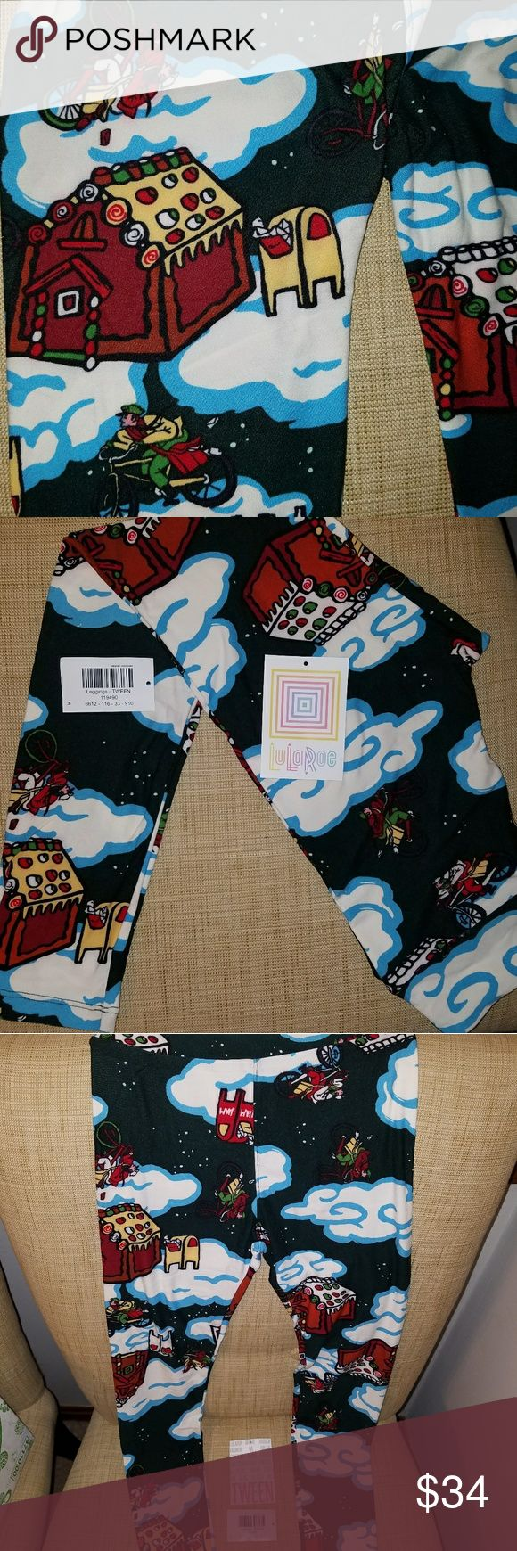 """LOWEST PRICE Gingerbread Tween Holiday Leggings I have a brand new with detached tags LLR Christmas holiday capsule legging pants in size Tween, which fits a Tween age 10+ up to around a size 0-2 in Women's, usually with a 23"""" inseam, so many women wear them as capris. These are an amazing fit and so extremely soft, dark blue almost black background. I buy directly from consultants and these have never been worn or tried on. I ended up buying the wrong size and am trying to get what I paid…"""