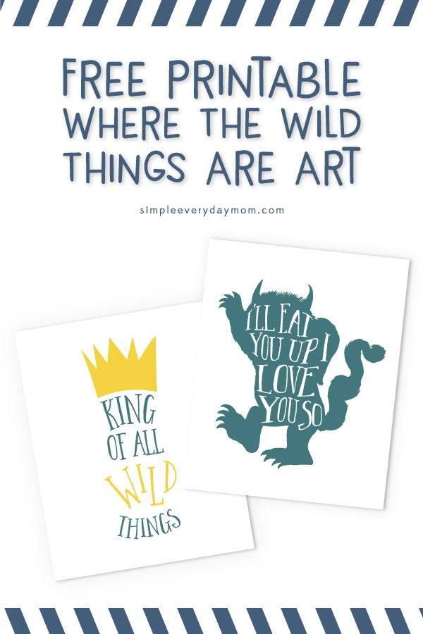 It is an image of Tactueux Where the Wild Things Are Printables for Free