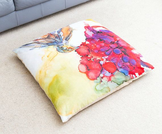 Hummingbird Floor Cushion Giant Floor Pillow by StudioEmmaKaufmann #homedecor #floorcushion # ...